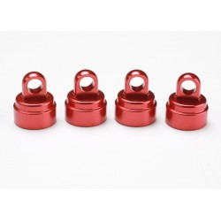 Red-anodized aluminum shock...