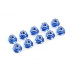 DADI AUTOBLOCC.FLANGIATI ALL. - M3 BLUE (10PZ)