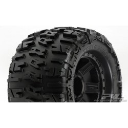 TRENCHER 3.8 TIRES ON BLACK WHEELS 17MM HEX (2)