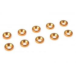 ALUM. 8MM WASHER FOR M3 FLAT SCREWS - GOLD (10PCS)