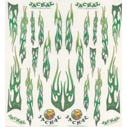 DECALS GOTHIC GREEN FLAMES