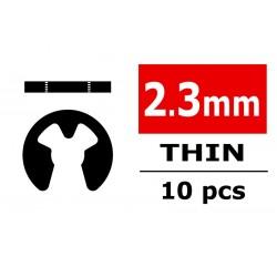 E-CLIPS DIAMETER 2.3MM - THIN - 10PCS