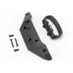 Bumper, front/ bumper mount, front/ 4x10mm BCS (2)