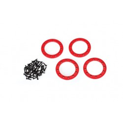 BEADLOCK RINGS ALUMINUM RED...