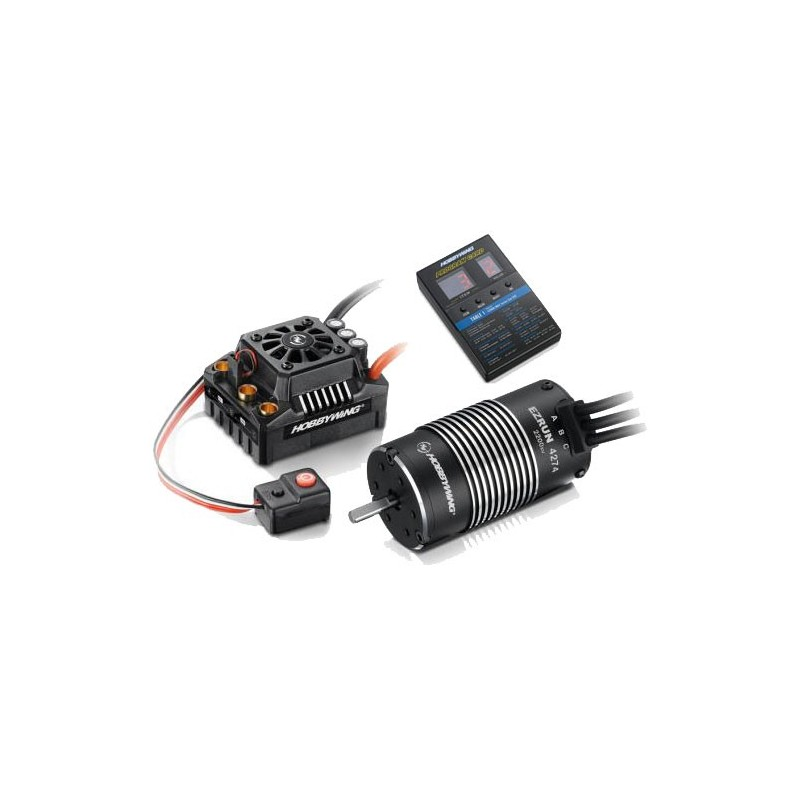 COMBO BRUSHLESS MAX8 V3 150A+MOTORE+2200KV+CARD