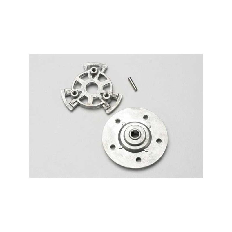Slipper pressure plate and hub