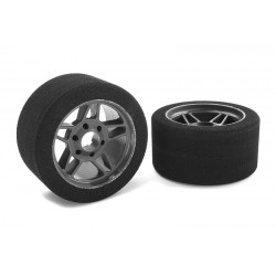 ATTACK FOAM TIRES 1:8 ONROAD FRONT 32 CARBON RIMS