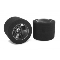 ATTACK FOAM TIRES REAR 1:8 ONROAD 35 CARBON RIMS