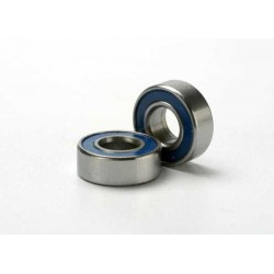 Ball bearings, blue rubber sealed (5x11x4mm) (2)