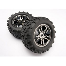 TIRES + WHEELS MONSTER TRUCK - 17MM HEX (2)