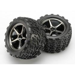 Tires and wheels,glued(Gemini black & Talon Tires)