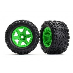 """TANO TIRES 3,8"""" ON GREEN WHEELS 17MM HEX (2)"""