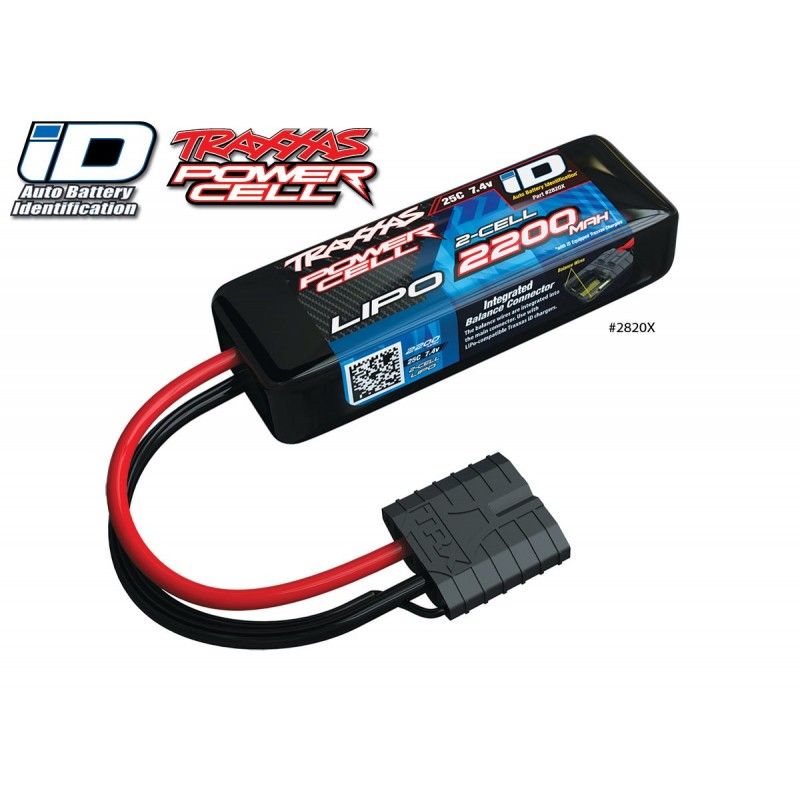 Batteria Lipo 2200mah 7.4v 2s 25c Power Cell iD