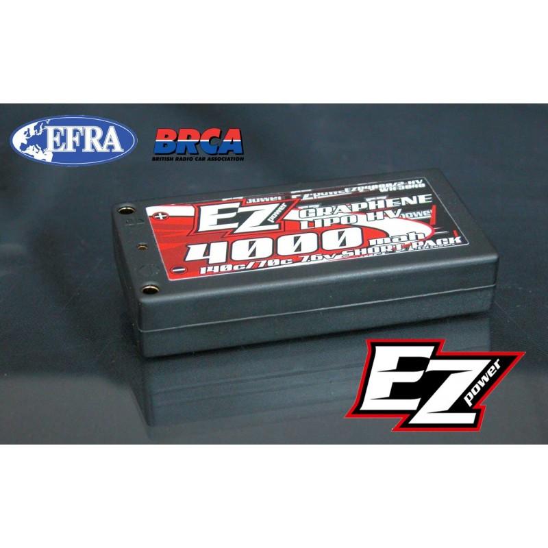 EzPower Lipo 4000mah 7,6v Hv Graphene 140/70c LCG short pack