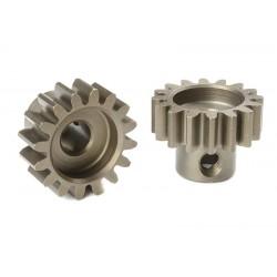 Pignone Modulo 1 in acciaio indurito - 16T - foro 5mm