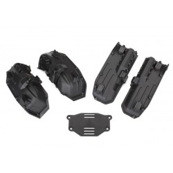 Fenders, inner (narrow), front & rear (2 each)/ rock light covers (8)/ battery plate/ screws set (4)