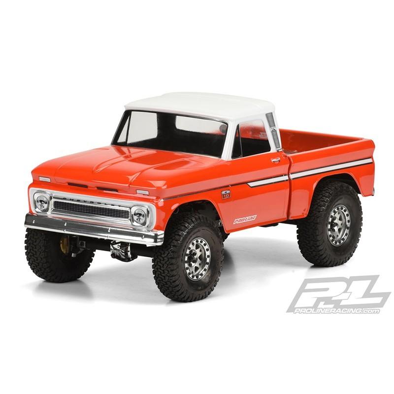 "1966 Chevrolet C-10 (Cab+Bed) per SCX10 Trail Honcho 12.3"" 313mm trasparente"