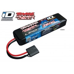Lipo Battery 7600mah 7.4V 2s 25c Power Cell Traxxas ID