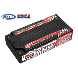 Team Corally Batteria Lipo Voltax 4200mah 7.4V 2s LCG Shorty 120C - connettori 4mm