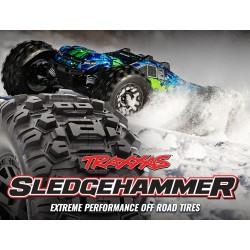 """SledgeHammer tires glued on black wheels 2.8"""" TSM (2)"""