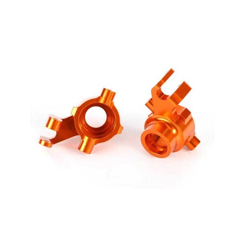 Blocchetti sterzo DX+SX alluminio arancio