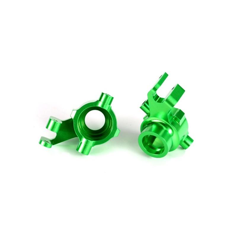 Blocchetti sterzo DX+SX alluminio verdi