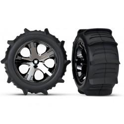 Tires Paddle & wheels glued...