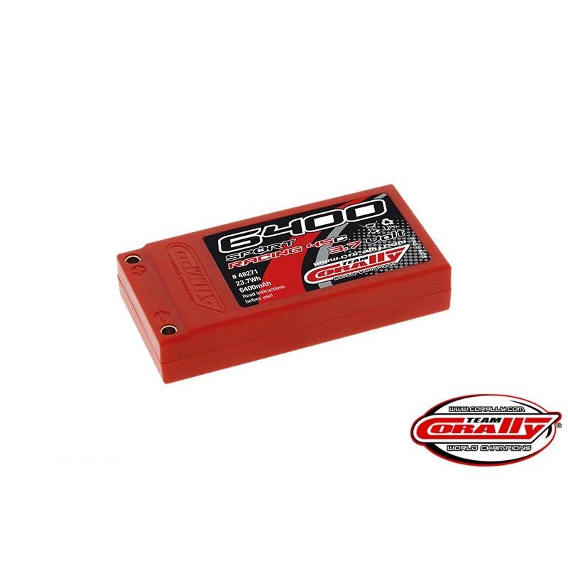 6400 MAH 3,7V 45C HARD CASE LIPO PACK