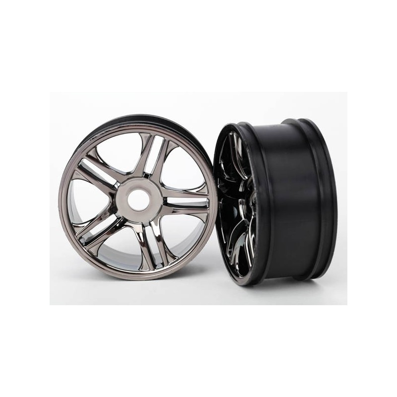 Wheels, split-spoke (black chrome) (front) (2)