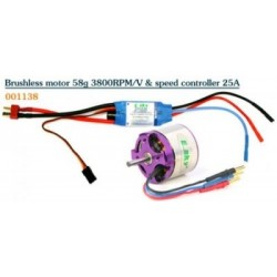 SISTEMA BRUSHLESS 3800kv/25amp